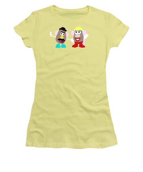 Mr. And Mrs. Potato Head Women's T-Shirt (Junior Cut) by Priscilla Wolfe