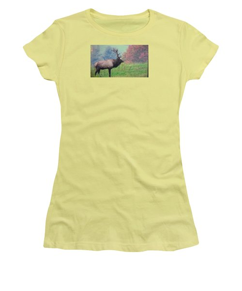 Mr Elk Enjoying The Autumn Women's T-Shirt (Junior Cut) by Jeanette Oberholtzer