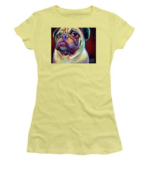 Mr. Pugnacious  Women's T-Shirt (Athletic Fit)