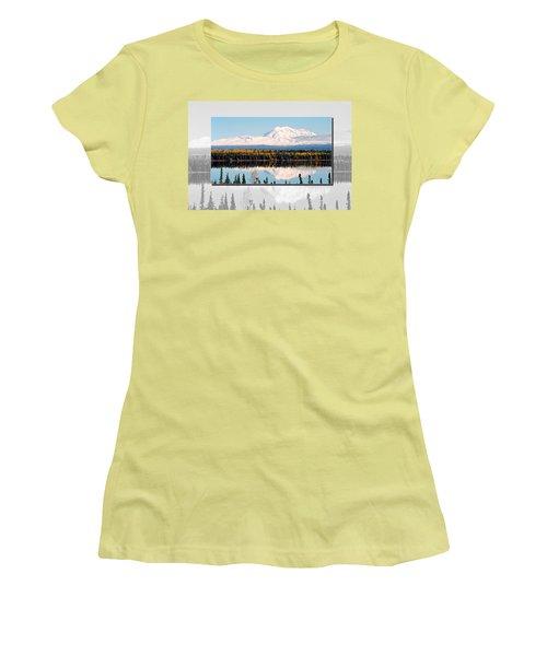 Women's T-Shirt (Junior Cut) featuring the photograph Mt. Drum - Alaska by Juergen Weiss