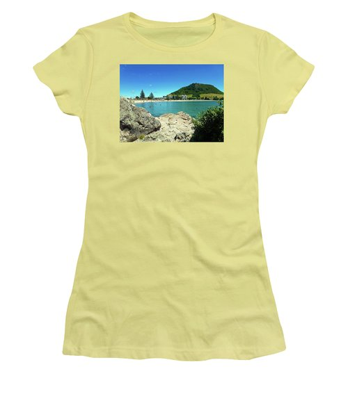 Mt Maunganui Beach 13 - Tauranga New Zealand Women's T-Shirt (Junior Cut) by Selena Boron