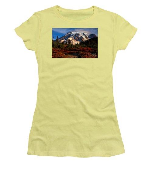 Mt. Rainier Paradise Morning Women's T-Shirt (Athletic Fit)