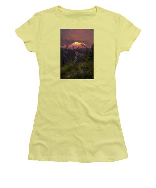 Mt. Rainier Sunrise Women's T-Shirt (Athletic Fit)