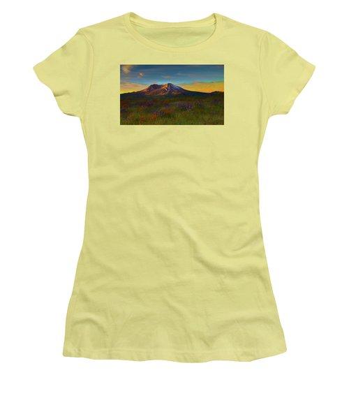 Mt. St. Helens Sunrise Women's T-Shirt (Athletic Fit)