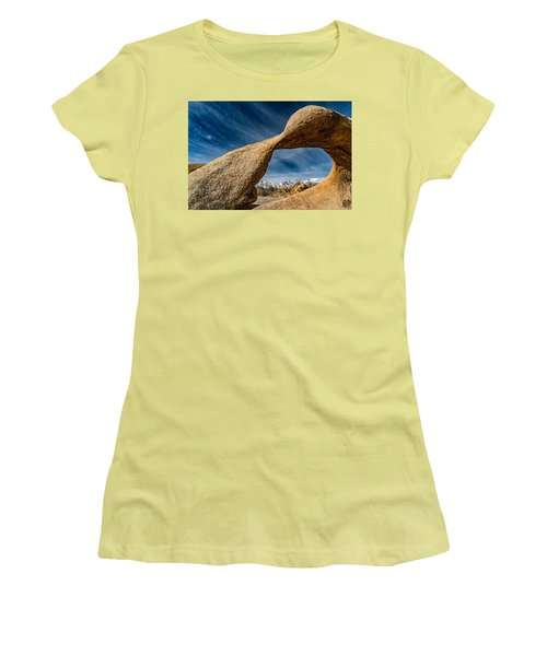 Mt Whitney Through Mobius Arch Women's T-Shirt (Athletic Fit)