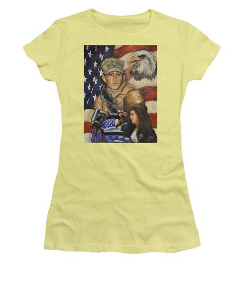 Much Too Young Women's T-Shirt (Junior Cut) by Ken Pridgeon