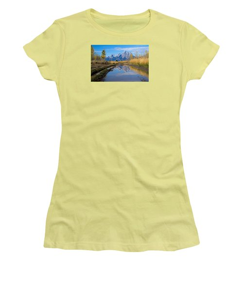 Mud Puddle Reflection Women's T-Shirt (Athletic Fit)