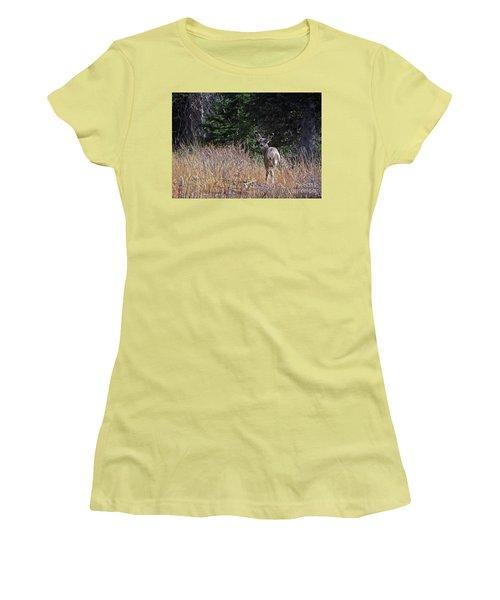 Mule Deer In Utah Women's T-Shirt (Junior Cut) by Cindy Murphy - NightVisions