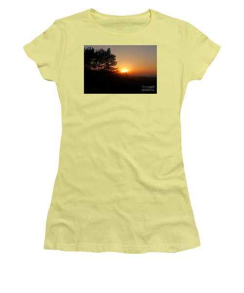 Mulholland Sunset And Silhouette Women's T-Shirt (Junior Cut) by Nora Boghossian