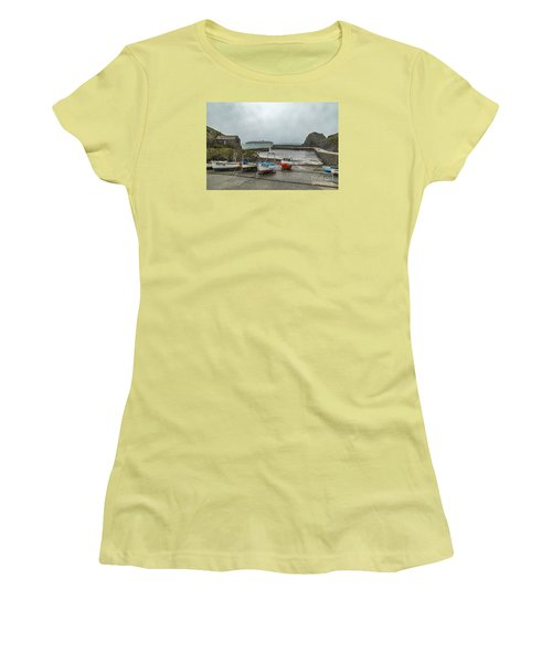 Mullion Cove Harbour Women's T-Shirt (Athletic Fit)