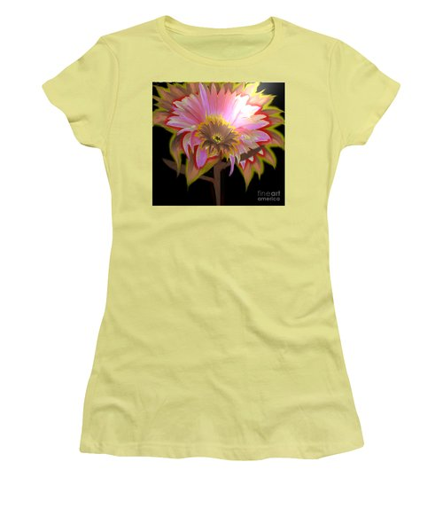 Multi Color Daisy Women's T-Shirt (Athletic Fit)