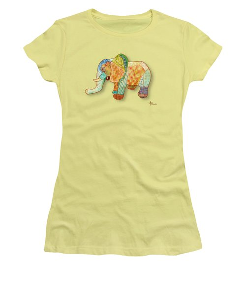 Multicolor Elephant Women's T-Shirt (Athletic Fit)