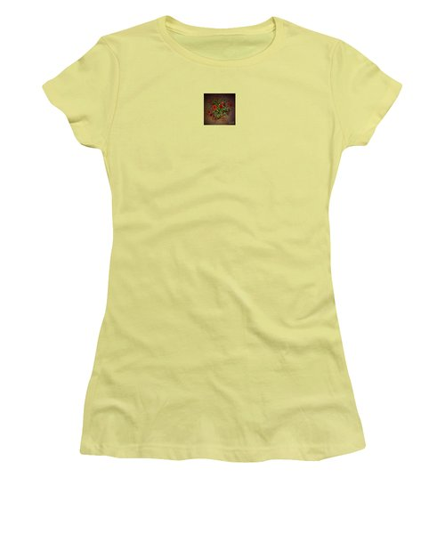 Women's T-Shirt (Junior Cut) featuring the painting Mums by Mim White