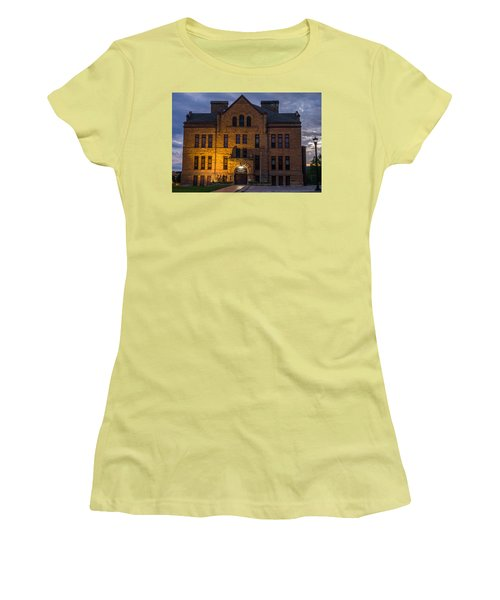Women's T-Shirt (Junior Cut) featuring the photograph Museum by Jerry Cahill