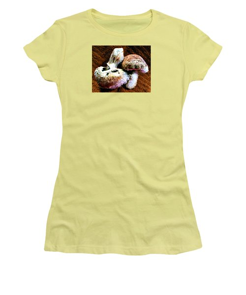 Mushroom Love Women's T-Shirt (Junior Cut) by Steve Sperry