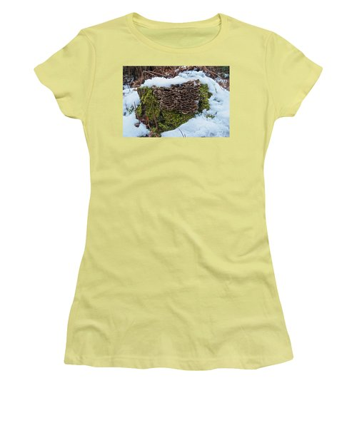 Mushrooms And Moss Women's T-Shirt (Junior Cut) by Michael Peychich