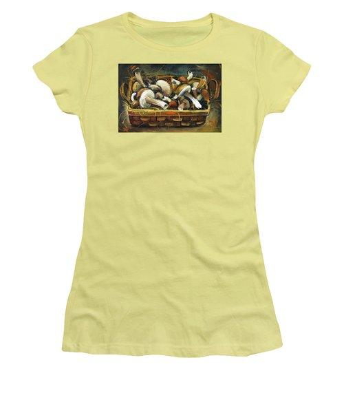 Mushrooms Women's T-Shirt (Junior Cut) by Mikhail Zarovny