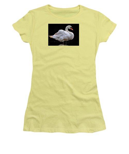 Mute Swan 3 Women's T-Shirt (Junior Cut) by Brian Stevens