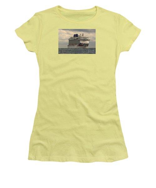 Mv Britannia 2 Women's T-Shirt (Junior Cut) by David  Hollingworth