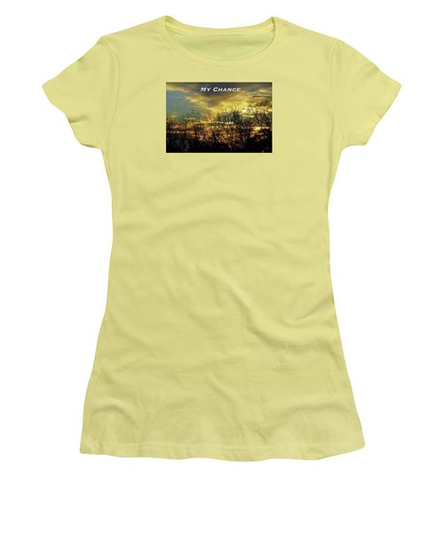 Women's T-Shirt (Junior Cut) featuring the photograph My Chance by David Norman