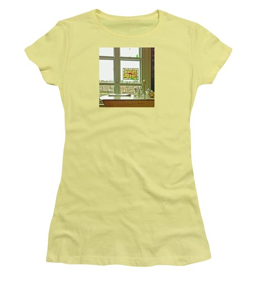 Women's T-Shirt (Athletic Fit) featuring the photograph My Favourite Cafe by Anne Kotan