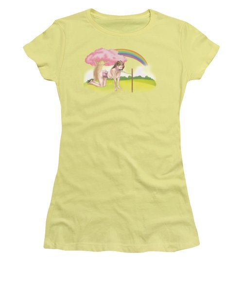 Women's T-Shirt (Junior Cut) featuring the mixed media My Little Pony by TortureLord Art