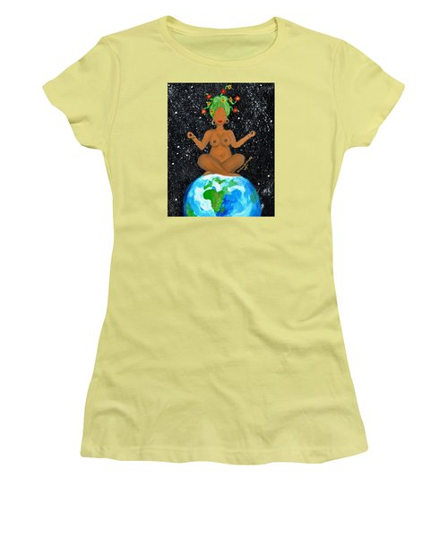 My Own World Women's T-Shirt (Junior Cut) by Diamin Nicole