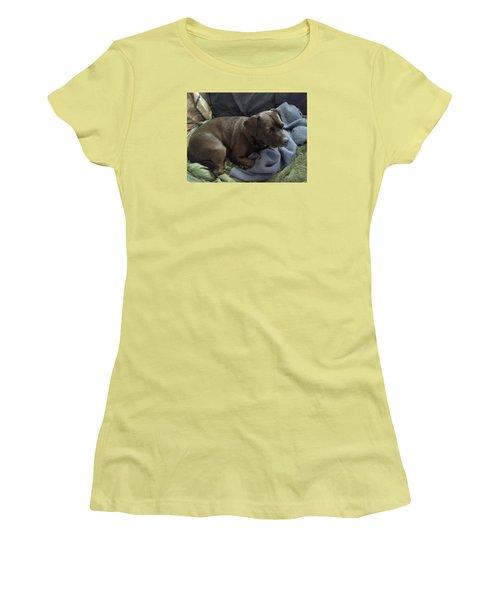 My Puppy Bella Women's T-Shirt (Junior Cut) by Jewel Hengen