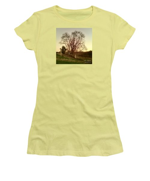 Women's T-Shirt (Junior Cut) featuring the photograph My Tree Has A Soul  by Delona Seserman