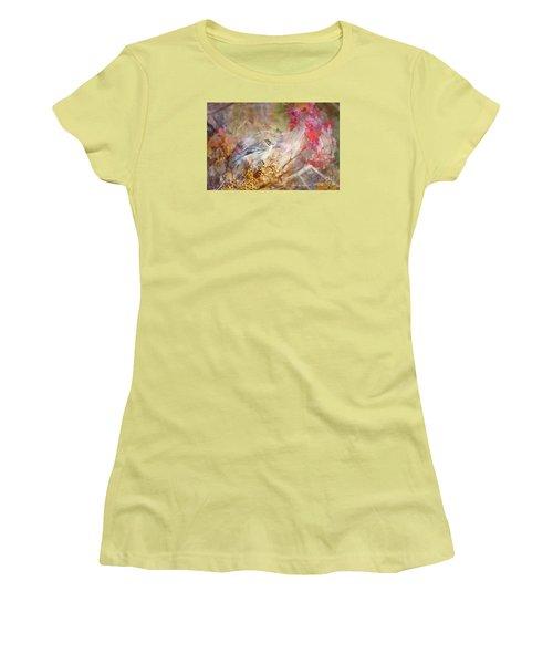 Myrtle Warbler Three Women's T-Shirt (Junior Cut) by Suzanne Handel