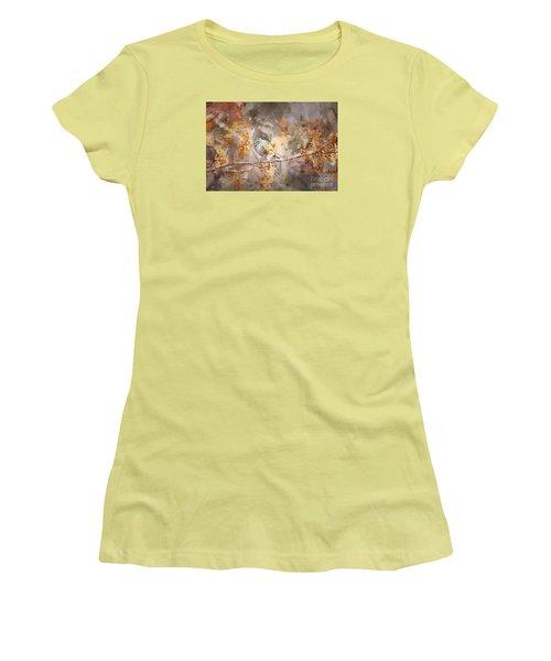 Myrtle Warbler Two Women's T-Shirt (Junior Cut) by Suzanne Handel