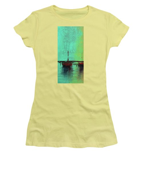 Mystic Bay Triptych 1 Of 3 Women's T-Shirt (Athletic Fit)