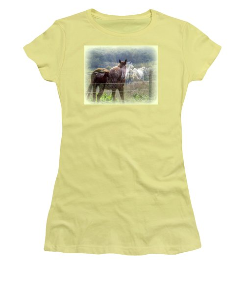 Mystic Horses Women's T-Shirt (Athletic Fit)