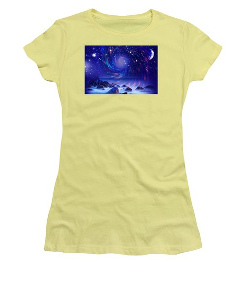 Mystic Lights Women's T-Shirt (Athletic Fit)