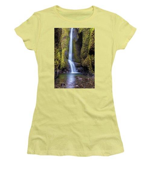 Mystical Oneonta Falls Women's T-Shirt (Junior Cut) by Pierre Leclerc Photography