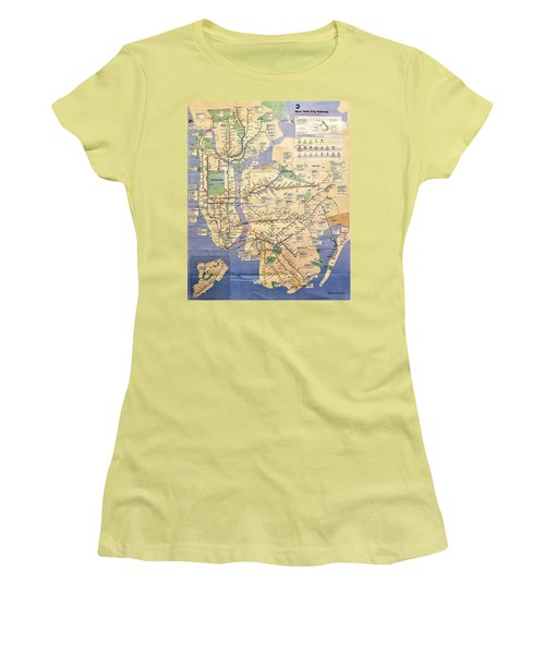 N Y C Subway Map Women's T-Shirt (Athletic Fit)