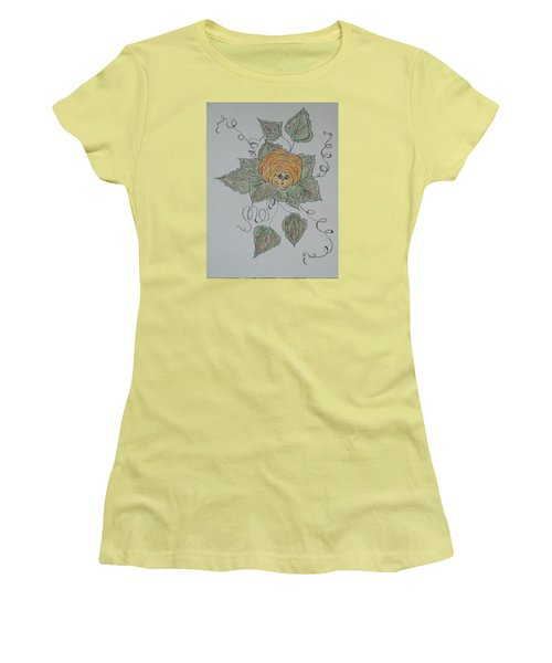 Women's T-Shirt (Junior Cut) featuring the drawing Nana Rose Is Here by Sharyn Winters