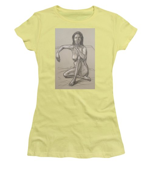 Women's T-Shirt (Junior Cut) featuring the drawing Nancy   by Donelli  DiMaria