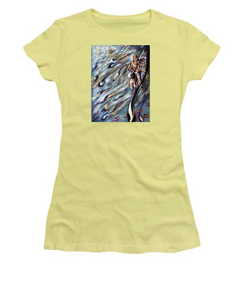 Narada Muni Women's T-Shirt (Junior Cut) by Harsh Malik