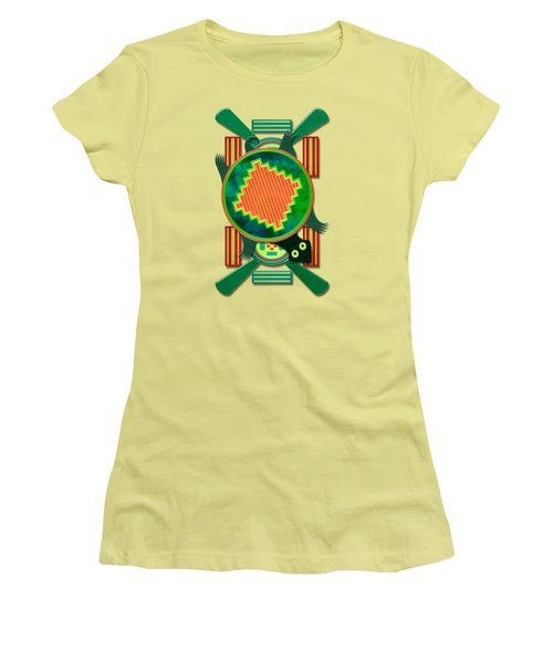 Native American 3d Turtle Motif Women's T-Shirt (Junior Cut) by Sharon and Renee Lozen
