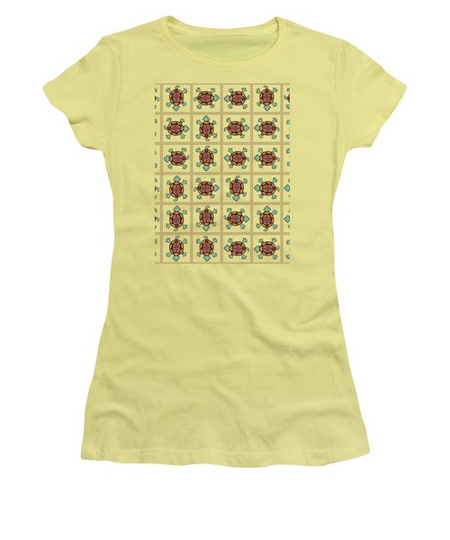 Native American Pattern Women's T-Shirt (Athletic Fit)