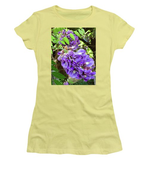 Native Wisteria Vine II Women's T-Shirt (Junior Cut) by Angela Annas