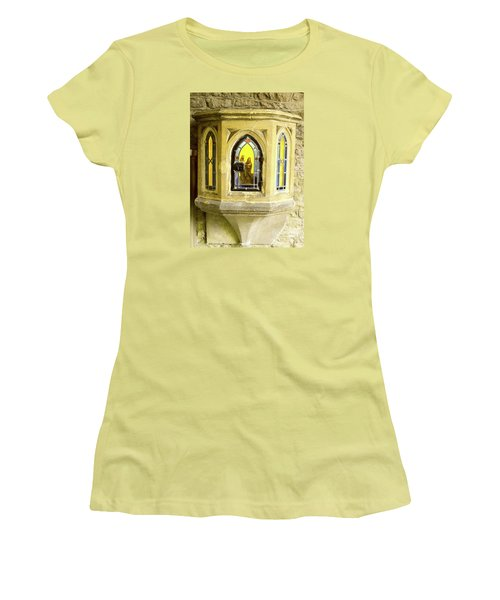 Women's T-Shirt (Junior Cut) featuring the photograph Nativity In Ancient Stone Wall by Linda Prewer