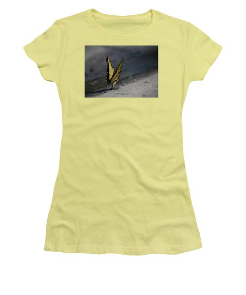 Nature And Man Reflects Women's T-Shirt (Athletic Fit)
