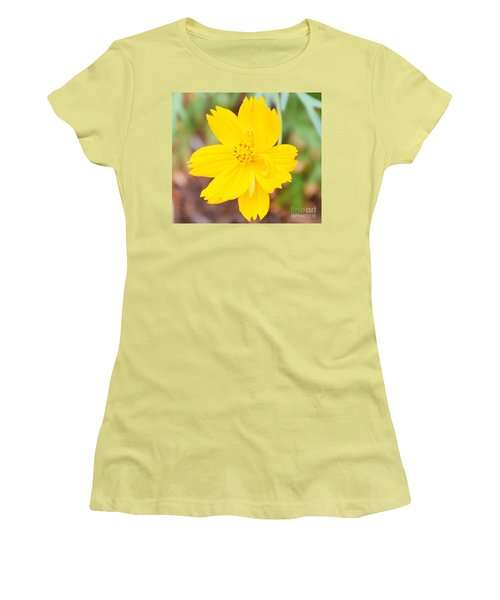 Women's T-Shirt (Junior Cut) featuring the photograph Nature Colorful Flower Gifts - Yellow by Ray Shrewsberry
