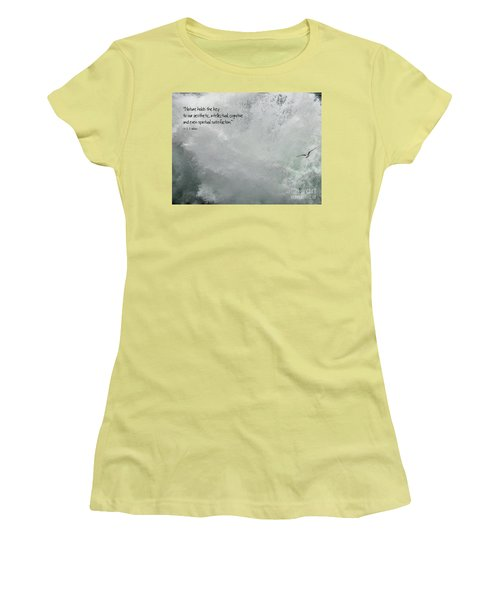 Women's T-Shirt (Athletic Fit) featuring the photograph Nature Holds The Key by Peggy Hughes
