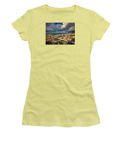 Nature Vs Technology Women's T-Shirt (Athletic Fit)