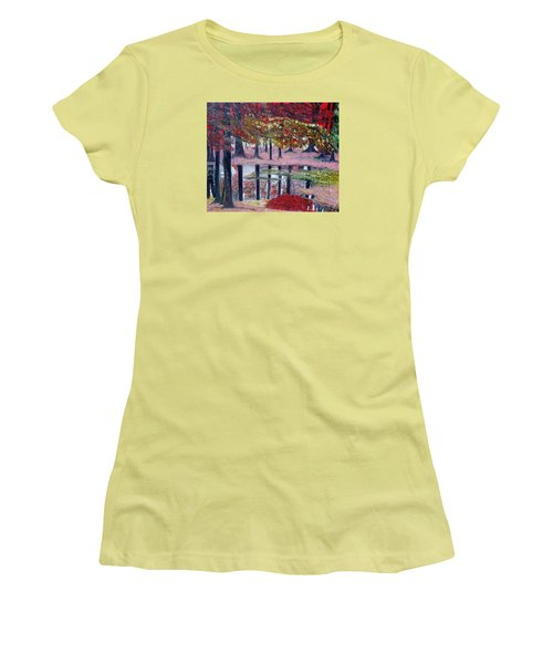 Women's T-Shirt (Junior Cut) featuring the painting Natures Painting by Marilyn  McNish