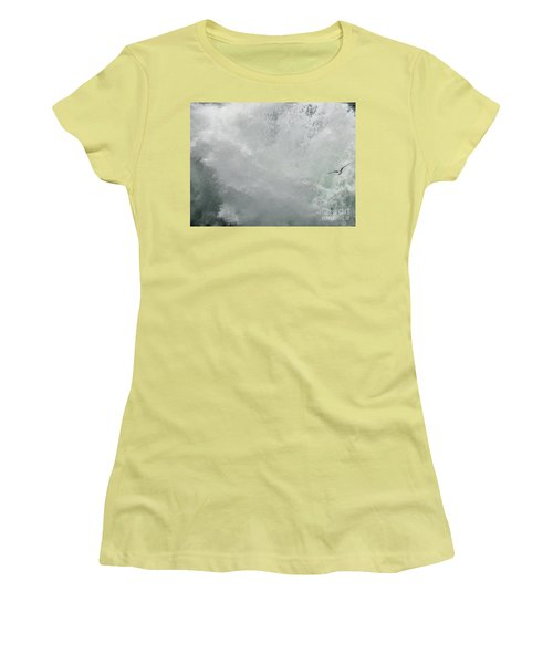 Women's T-Shirt (Athletic Fit) featuring the photograph Nature's Power by Peggy Hughes
