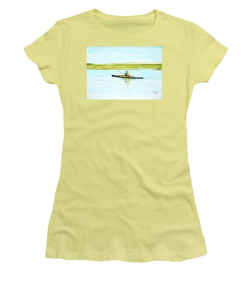 Nauset Kayaker Women's T-Shirt (Athletic Fit)
